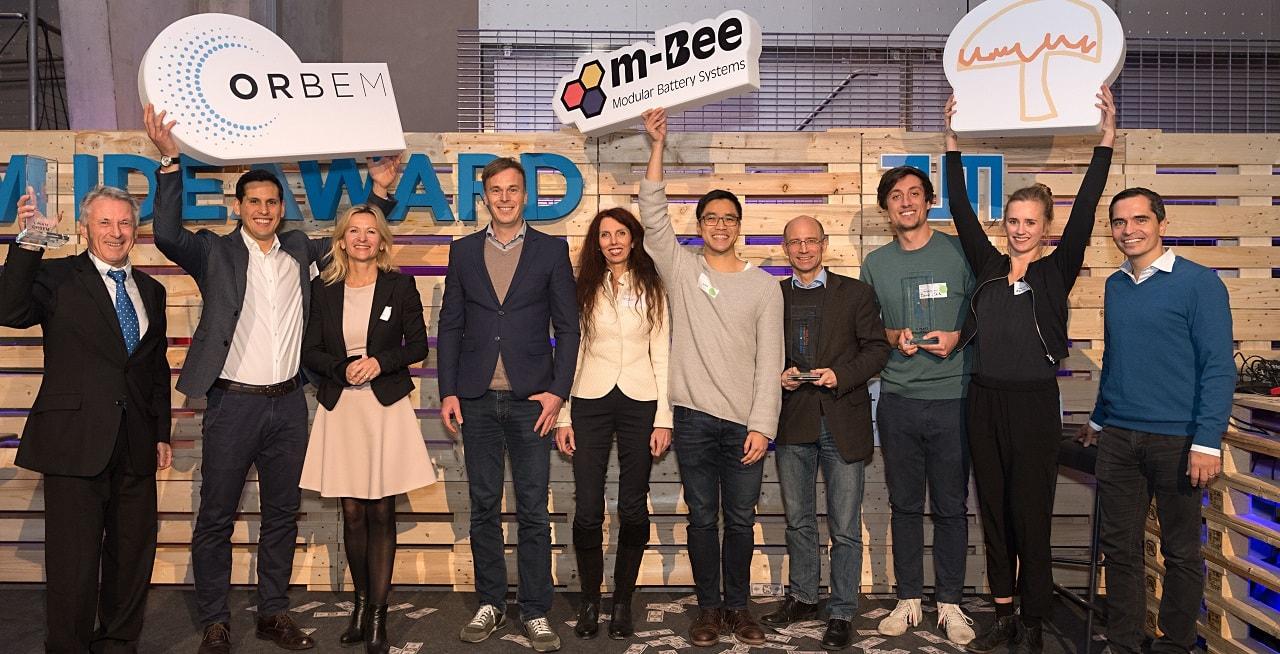 Zweiter Platz für m-Bee beim TUM IdeAward 2018