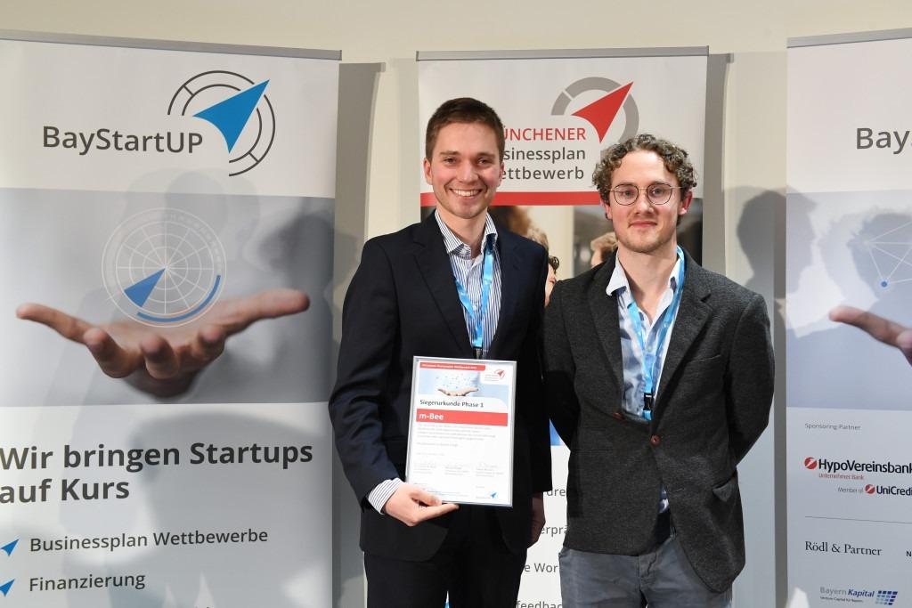 Einer von 10 Siegern beim Münchener Business Plan Wettbewerb 2019